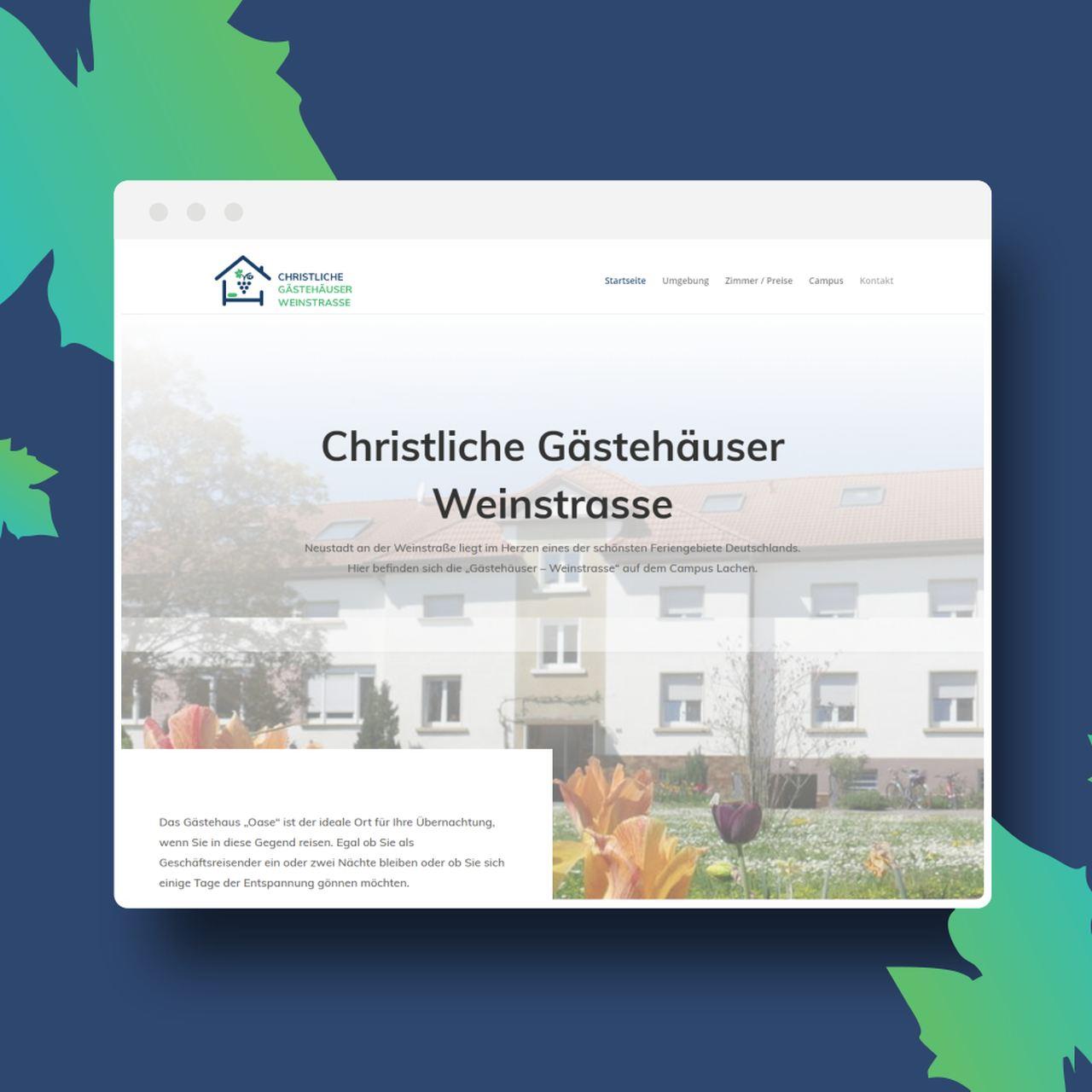 Webdesign Landau Gästehäuser Weinstrasse